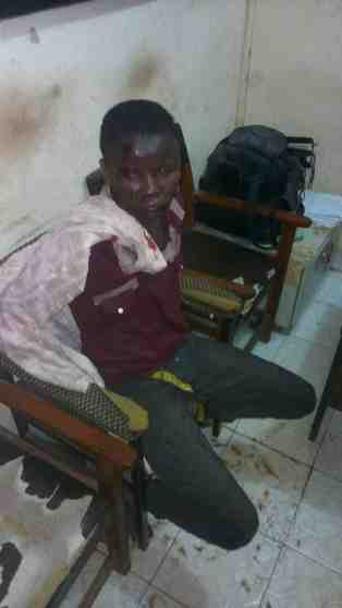 Thief Beaten Mercilessly After Being Caught Stealing In A Female Hostel (Photos)