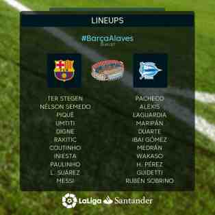 LA LIGA: Barcelona Vs Alaves (Live  Streaming)